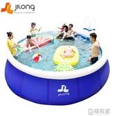 充氣泳池 吉龍嬰兒童游泳池家用加厚成人小孩寶寶超大戶外大型家庭充氣水池 ATF 聖誕免運