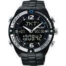 ALBA 雅柏 W兩個世界雙顯手錶-黑/44mm N021-X002SD(AZ4015X1)