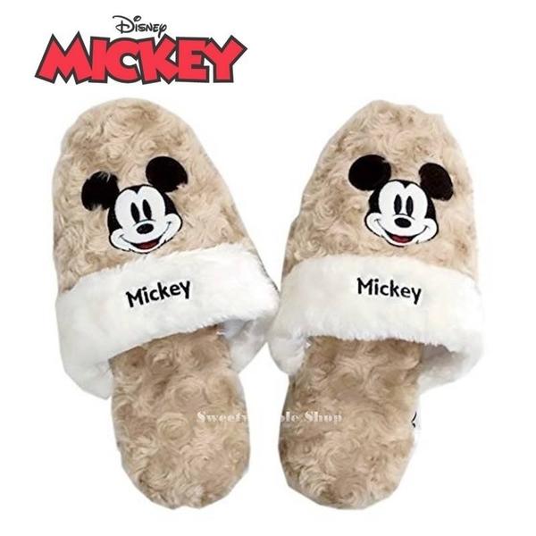 日本限定 迪士尼 米奇 絨毛 室內拖鞋 / 保暖拖鞋