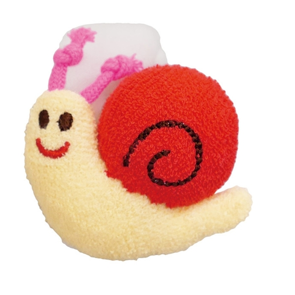 【日本製】【Rub a dub dub】幼童用 寶寶玩具 蝸牛手搖鈴 紅色 SD-9135 - Rubadubdub