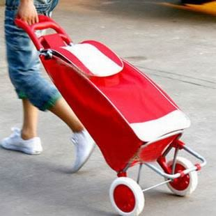 新款爬樓車購物車行李車手拉車可折疊便攜買菜車購物車大號 兒童節禮物