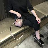 2018新款夏天小包包 歐美潮流迷你水桶包斜挎女包手提休閒單肩包