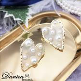現貨 韓國楊丞琳同款設計感誇張金屬愛心星星珍珠透明壓克力耳環 S93529 批發價 Danica 韓系飾品