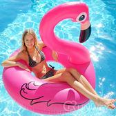 天鵝火烈鳥浮圈浮床游泳圈救生圈充氣浮床氣墊粉紅天鵝泳圈氣墊彩色獨角獸120cm