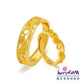 威世登 黃金戒指 對戒 華麗之戀 愛情圈套黃金對戒系列 情人節 結婚金飾 GA00071B+GA00071G-ABEX