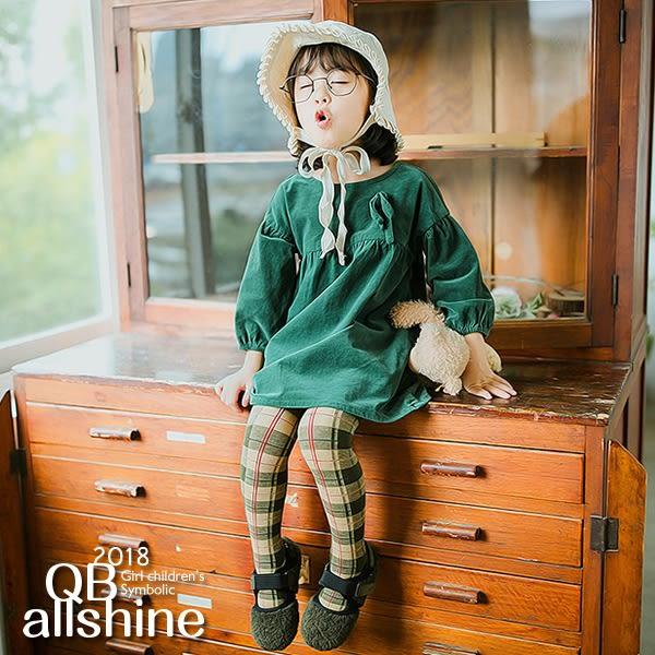 女童褲襪 英倫風蘇格蘭褲襪 QB allshine