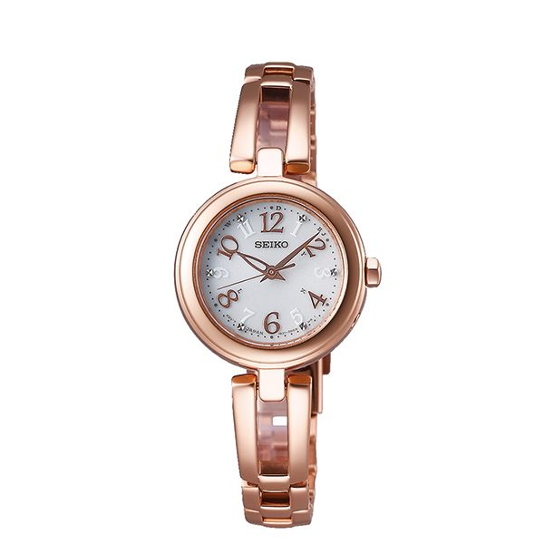SEIKO 精工 SWFH072J(1B21-0AC0G) Vivace 太陽能 玫瑰金 女錶