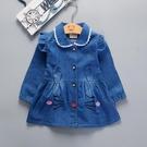 女童外套 兒童外套春秋2020新款女童牛仔洋氣長袖短款上衣寶寶秋季時髦風衣 霓裳細軟
