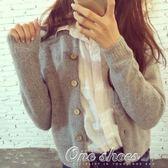 現貨出清 新款女針織衫開衫韓版寬鬆外搭毛衣女士短款上衣外套厚  11-7YXS