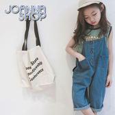 童裝 西西寬鬆木扣牛仔連身褲-Joanna Shop