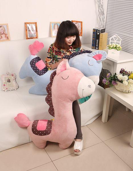 75CM可愛小馬造型抱枕 男朋友抱枕 情人節禮物 交換禮物 居家裝飾 (現+預)