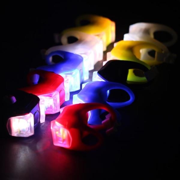 自行車燈青蛙燈夜騎警示兒童滑板車平衡車彩燈山地車尾燈單車配件