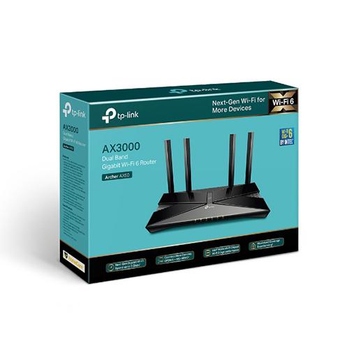TP-LINK Archer AX50 (US)AX3000 雙頻 Gigabit Wi-Fi 6 網路分享 無線路由器