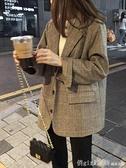 西裝外套 西裝外套女設計感小眾短款格子西服上衣網紅ins潮2020年新款秋冬 年終大酬賓