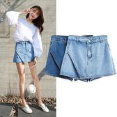 春夏新款韓版牛仔短褲女裙褲淺藍色褲裙半身裙女短裙女熱褲子
