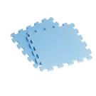 【新生活家】EVA素面巧拼地墊-淺藍色32x32x1cm40入