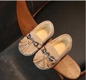 冬款女童皮鞋公主鞋兒童豆豆鞋加絨女童鞋寶寶鞋單鞋棉鞋