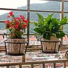 買3送1 鐵藝陽台掛式欄桿裝飾花盆架懸掛多層室內綠蘿花架子特價【快速出貨八折下殺】