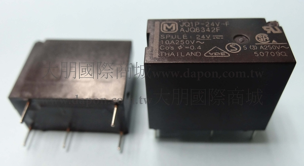 *大朋電子商城*Panasonic JQ1P-24V-F 繼電器Relay(5入)
