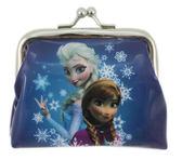 【卡漫城】 冰雪奇緣 雙珠扣式 零錢包 ㊣版 Frozen 艾莎 Elsa 雪寶 OLAF 藍色