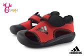 adidas ALTAVENTURE MICKEY 小童 寶寶護趾涼鞋 透氣舒適 運動型 米奇 迪士尼聯名 R9314#紅色◆OSOME奧森鞋業