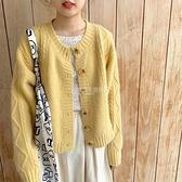 YUKIXIAOSHU自制奶油黃軟糯日系少女顯白溫柔針織毛衣開衫外套秋 設計師生活百貨
