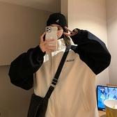 衝鋒衣 立領棒球服女潮ins港風原宿外套2021新款韓版寬鬆春秋撞色沖鋒衣