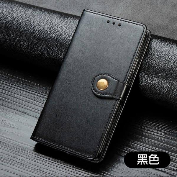 三星 A51 5G A71 5G A42 5G 圓扣純色皮套 插卡保護套 翻蓋軟殼 磁扣手機殼 鈕扣 經典皮套