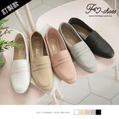 樂福.小方頭紳士樂福鞋(白、淺棕)-FM時尚美鞋-訂製款.Ciao