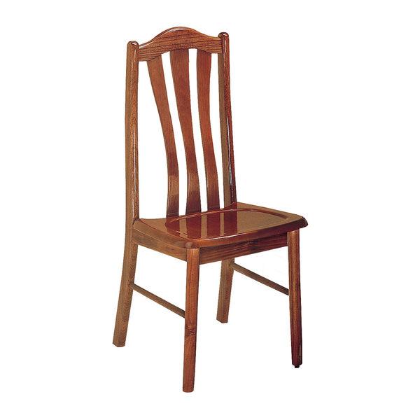 【森可家居】柚木餐椅 7JX246-5 木 椅子