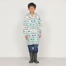 日本WPC 白堊紀恐龍M 空氣感兒童雨衣/超輕量防水風衣 附收納袋(95-120cm)