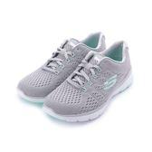 SKECHERS FLEX APPEAL 3.0 綁帶運動鞋 灰白 13064GYMN 女鞋