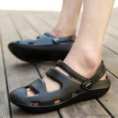 洞洞鞋 - 正韓夏季新款厚底沙灘防滑拖鞋大碼涼鞋輕便韓版懶人涼拖【快速出貨好康八折】