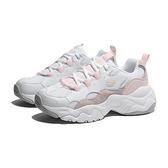 SKECHERS 休閒鞋 D' LITES 3 白粉 皮革 厚底 老爹鞋 女 (布魯克林) 88888210WLPK