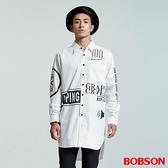 BOBSON  男款長型寬版印圖襯衫(35048-80)