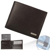 CalvinKlein 防刮皮革短夾禮盒(咖啡色)103005