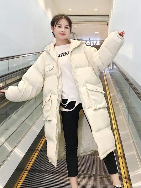 羽絨棉服 冬裝2021年新款女外套加厚羽絨棉服韓版寬鬆中長款棉衣棉襖ins潮 歐歐