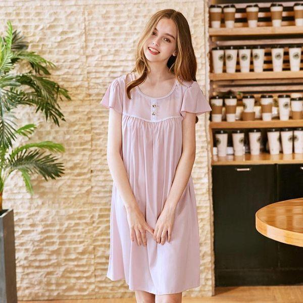 b5871211799 紡真絲性感睡裙女士夏季絲綢襯衫女性感睡衣家居服《小師妹》yf677 | 小 ...