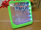 【DQ416】螢光留言板LED留言版 寫字板 看板 發光留言板 附筆22.5x20cm不挑款★EZGO商城★