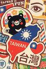 【收藏天地】台灣紀念品*明信片-台灣黑熊...