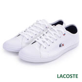 LACOSTE 女用帆布休閒鞋-白色 968
