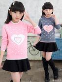女童毛衣新款套頭洋氣打底毛衣兒童針織衫加絨加厚韓版線衣