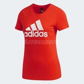 adidas 短袖T恤 Foil T-Shirt Logo 紅 白 女款 【ACS】 DW5722