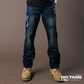 BIG TRAIN   COBRA眼鏡蛇小直筒褲-男-深藍-BM703278