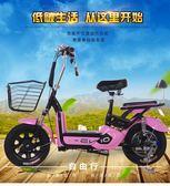 電瓶車 電動車48v新款電動自行車雙人電瓶車成人小型踏板助力車 igo【美物居家館】