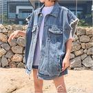 牛仔馬甲女春秋新款韓版寬鬆百搭學生bf短款坎肩無袖復古上衣外套 多色小屋