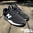 New Balance NB247 黑白 輕量 復古休閒 情侶鞋 慢跑 男女 (布魯克林) 2018/7月 MS247EB