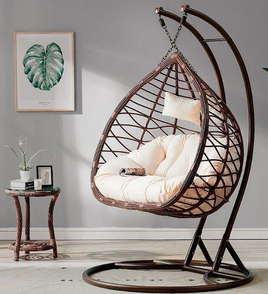 吊椅吊籃藤椅秋千成人家用室內陽台雙人鳥巢吊床搖籃椅搖椅吊籃椅wy