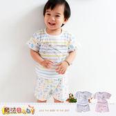 嬰幼兒居家套裝睡衣純棉肩開短袖短褲套裝 專櫃正品嬰兒服飾魔法Baby