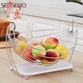 客廳果盤瀝水籃不銹鋼水果籃收納籃現代簡約【奈良優品】